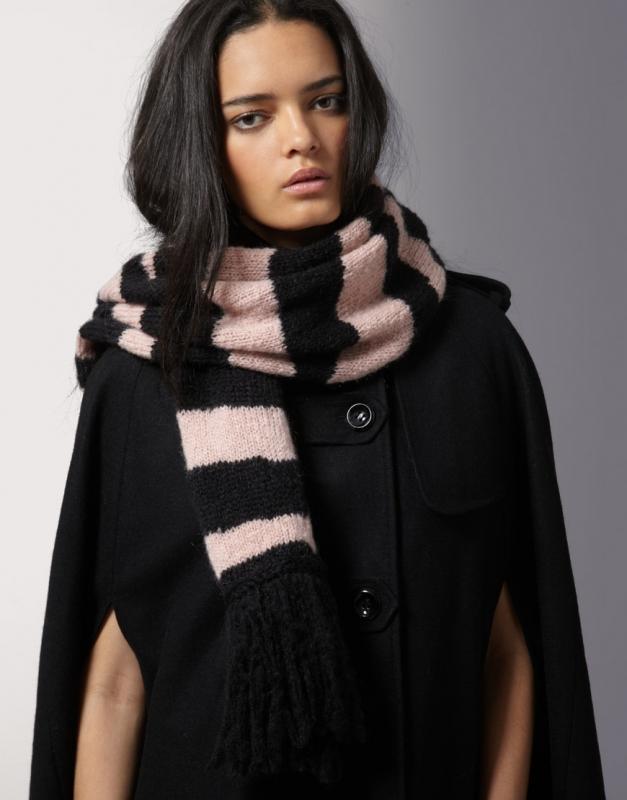 Объмный шарф крючком схема
