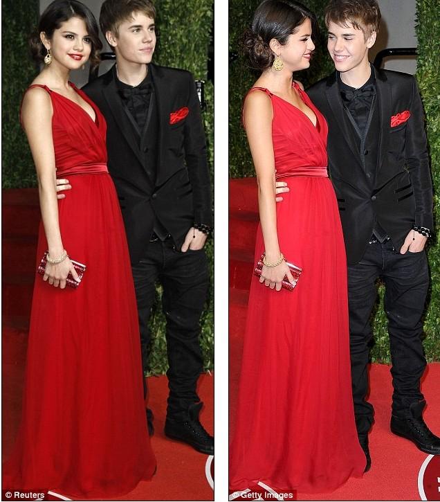 Селена гомес в красном платье