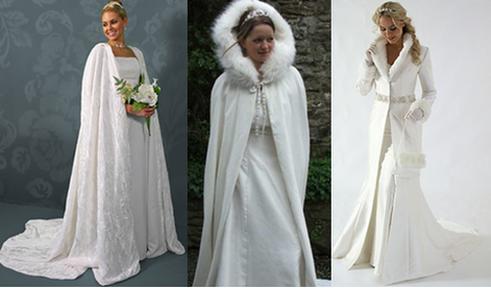pobedpix.com / платье на свадьбу зимой