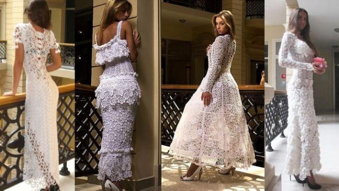 вязаные платья 2014 схемы