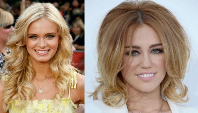 прически на средние волосы знаменитостей