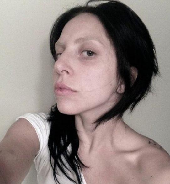 Фото леди гага без макияжа и с макияжем
