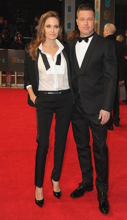 Анджелина Джоли и Брэд Питт одинаково оделись на вручении премии BAFTA
