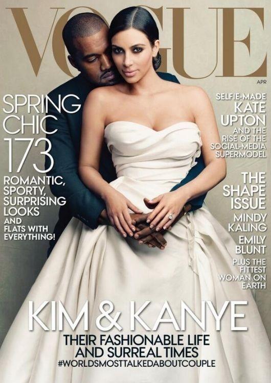 Читателям журнала Vogue не понравилась обложка с Ким Кардашян
