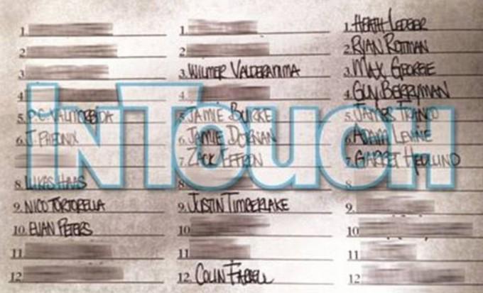 Линдси Лохан составила список своих любовников