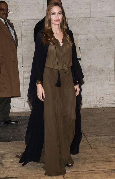 Анджелина Джоли и Кейт Мосс в платье Saint Laurent
