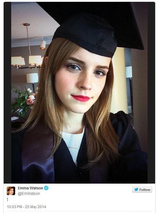 Эмма Уотсон окончила университет
