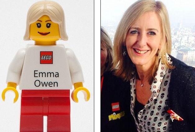 Лего придумали визитки в виде человечков