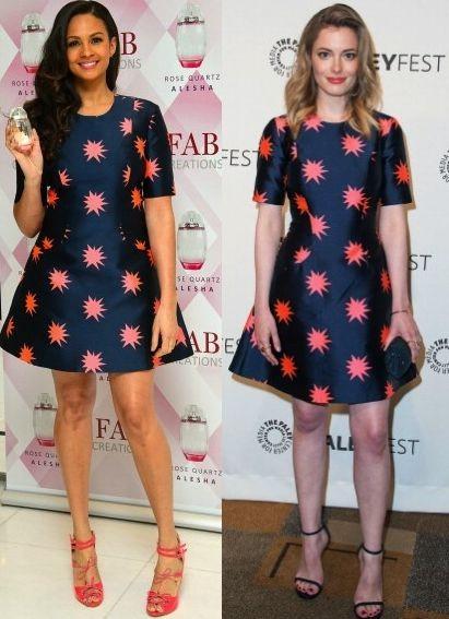 Джиллиан Джейкобс и Алиша Диксон в платье Holland Starburst