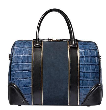С чем носить синюю сумку