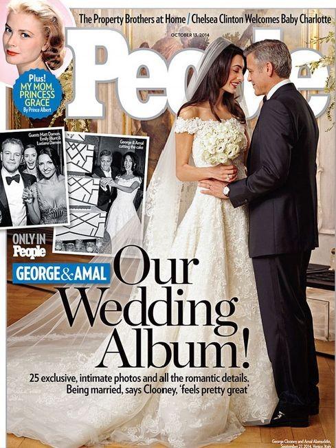 Первые фотографии со свадьбы Джорджа Клуни и Амаль Аламуддин