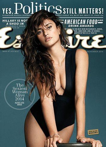 Пенелопа Крус стала самой сексуальной женщиной 2014 журнала Esquire