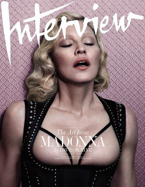 Мадонна разделась для Интервью