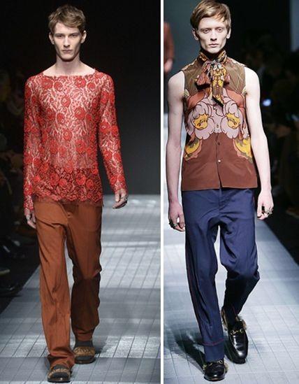 Gucci показал женственную коллекцию для мужчин