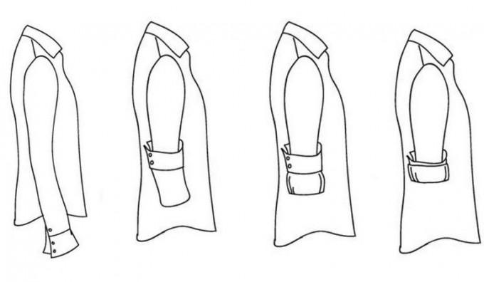 Как красиво подвернуть рукава и выбрать галстук