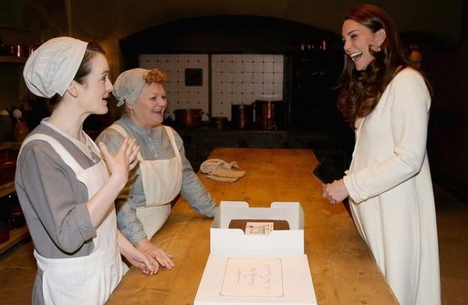 Кейт Миддлтон посетила Аббатство Даунтон