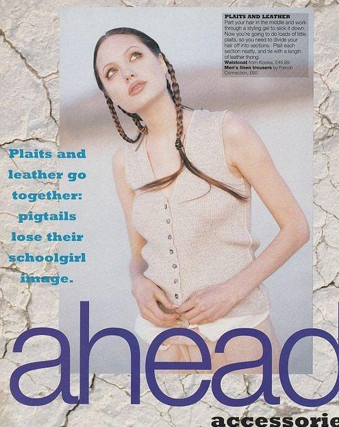 18-летняя Анджелина Джоли в журнале Look