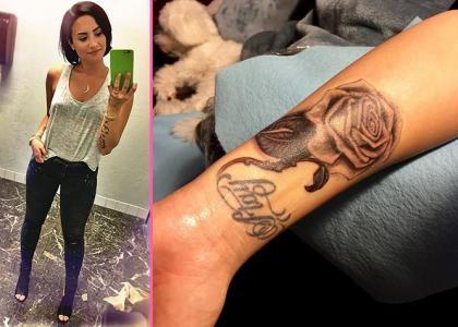 Деми Ловато переделала татуировку