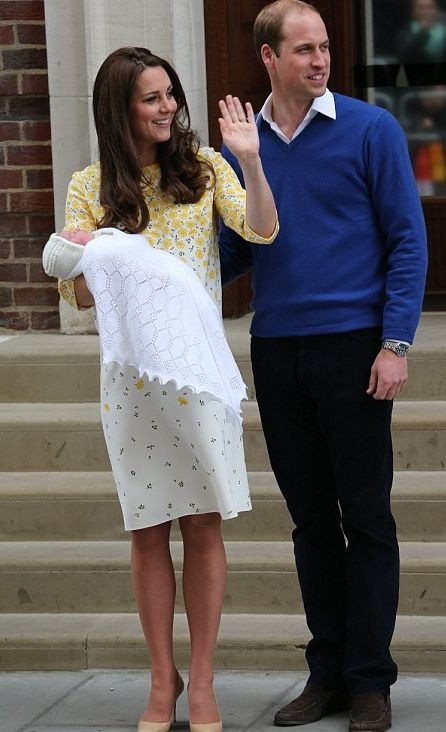 Кейт Миддлтон с дочкой покинула больницу