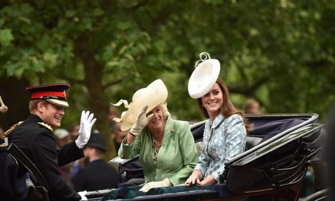 Кейт Миддлтон приняла участие в параде в честь дня рождения королевы