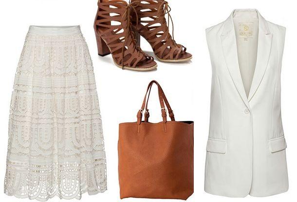 Хит сезона -  белые платья и юбки