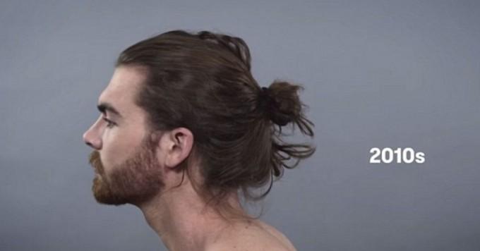 100 лет мужской красоты в одном ролике