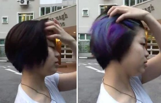 Цветные волосы этой девушки стали хитом Интернета