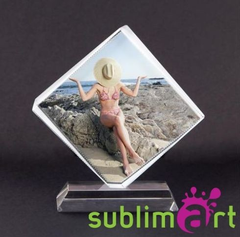 Прозрачное сердце-кристалл с портретом любимого человека