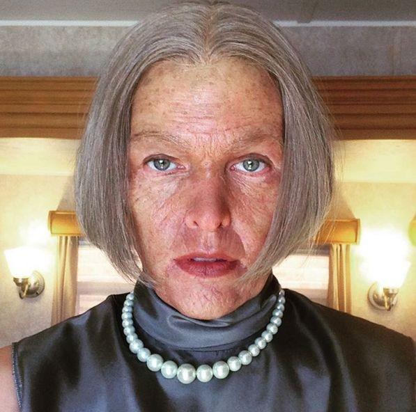 Мила Йовович превратилась в старушку