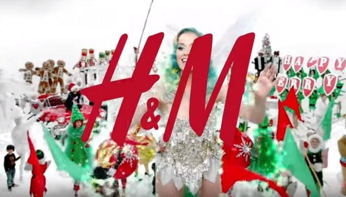 Кэти Перри снялась в рождественской рекламе H&M