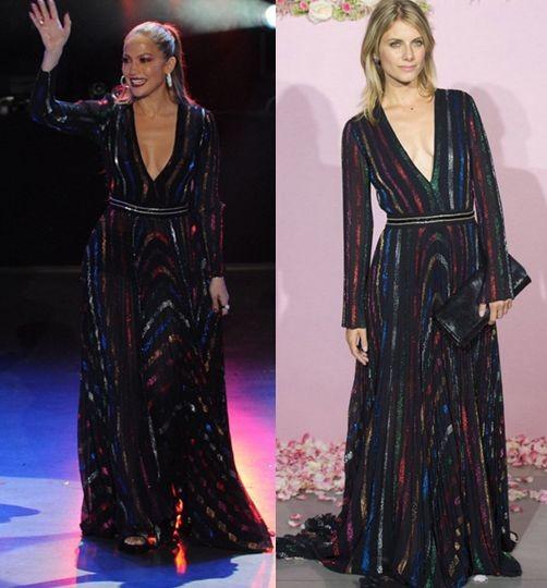 Дженнифер Лопес и Мелани Лоран в платье Blumarine