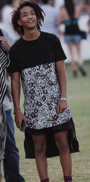 Сын Уилла Смита рекламирует женские юбки