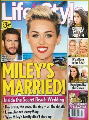 Свадьбы слух: Майли Сайрус вышла замуж