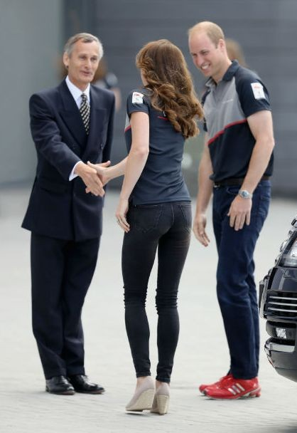 Принц Уильям и Кейт Миддлтон посетили соревнования по парусному спорту America's Cup World Series