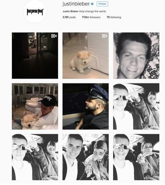 Джастин Бибер вернулся в Инстаграм по ошибке