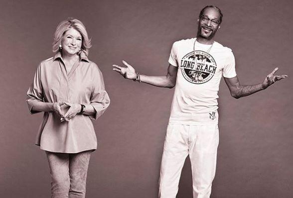 Снуп Догг и Марта Стюарт будут вместе вести новое шоу