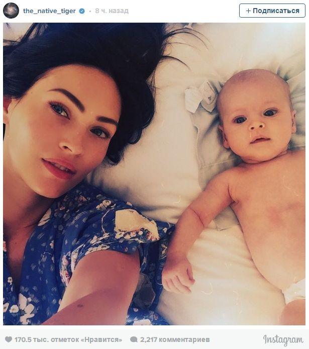 Меган Фокс впервые показала новорожденного сына