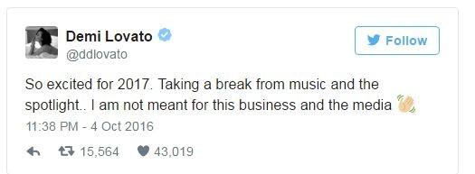 Деми Ловато намерена взять перерыв от музыки и внимания