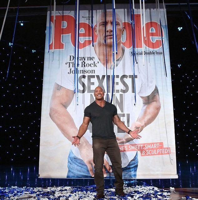 ЖурналPeople назвалДуэйна Джонсона самым сексуальным мужчиной 2016 года