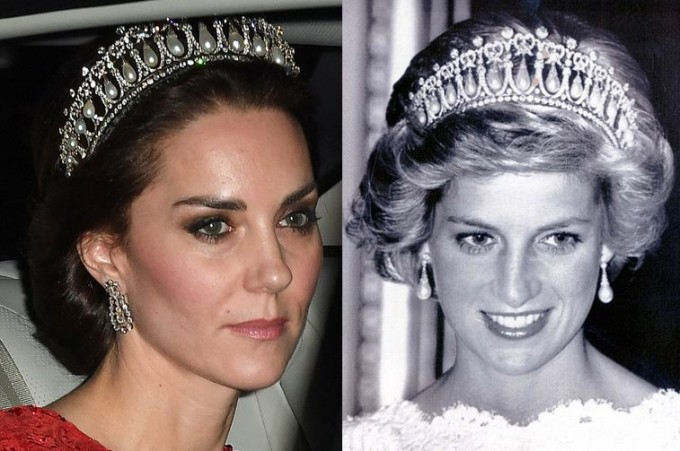 Кейт Миддлтон вновь надела тиару принцессы Дианы иблеснула наБалу Дипломатов