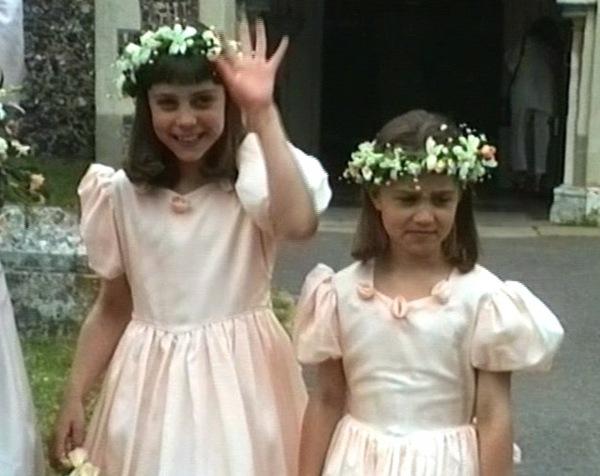 Почти королевская свадьба: девятилетняя Кейт Миддлтон на свадьбе своего дяди