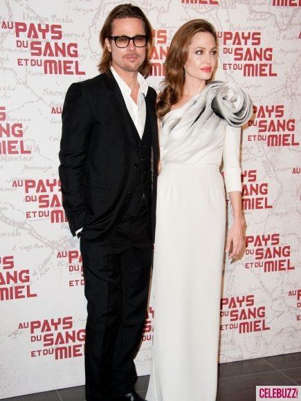Анджелина Джоли и Брэд Питт на премьере в Париже