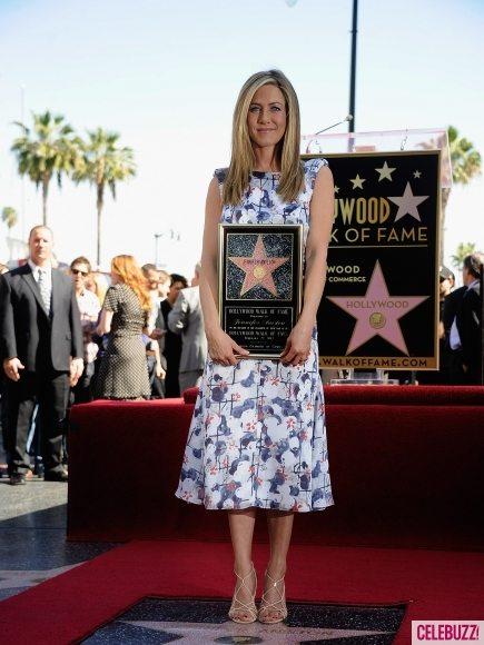 Дженнифер Энистон получила звезду на Аллее славы