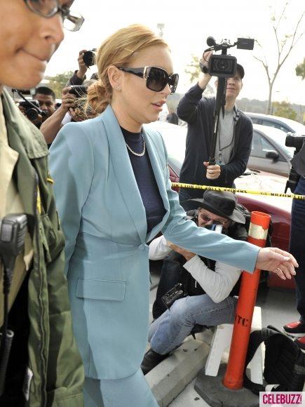 Последний визит Линдси Лохан в суд