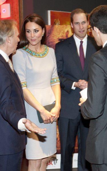 Принц Уильям и Кейт Миддлтон на премьере Африканских кошек