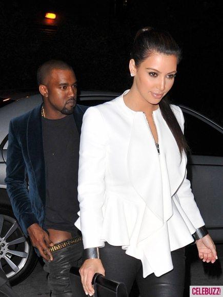 Канье Уэст потерял штаны на свидании с Ким Кардашян