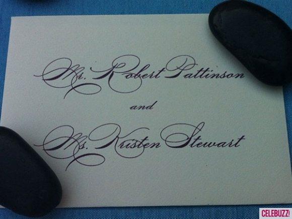 Роберт Паттинсон и Кристен Стюарт на свадьбе