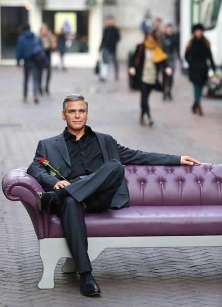 Восковой Джордж Клуни появился в День святого Валентина
