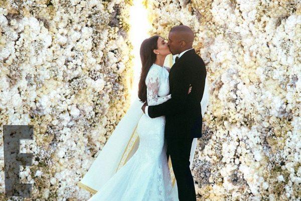 Первые фотографии со свадьбы Ким Кардашян