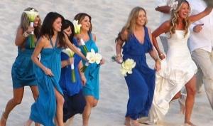 Джастин Бибер и Селена Гомес на свадьбе в Мексике